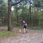 Lopen in het bos 2 - Hardloop groep 5K - april 2016